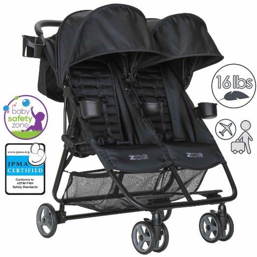 Zoe XL2 Double Lightweight Best Twin Travel Umbrella Stroller System