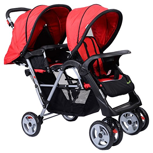 Costzon Baby Double Stroller Foldable Kids Infant Pushchair Twin Seat Travel