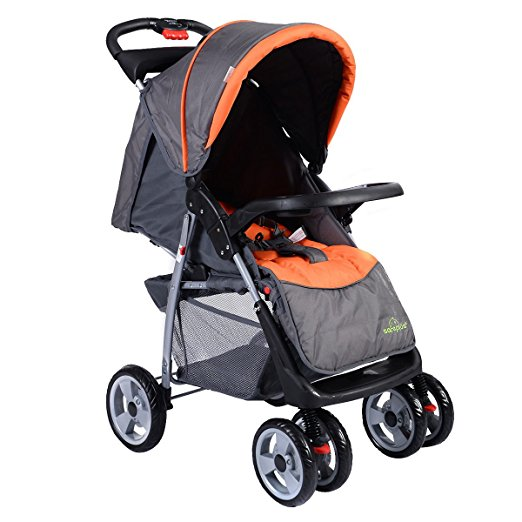 Costzon Foldable Baby Kids Travel Stroller Newborn Infant Buggy Pushchair