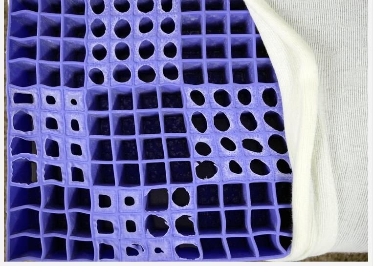 Purple's Mattress hyper-elastic polymer material