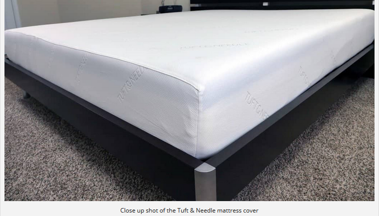 Close up shot of the Tuft & Needle mattress cover