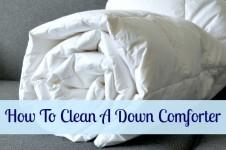 clean down comforter
